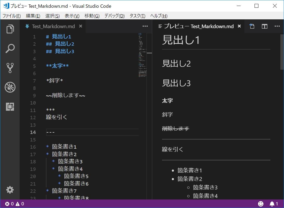 Visual Studio Code でMarkdown