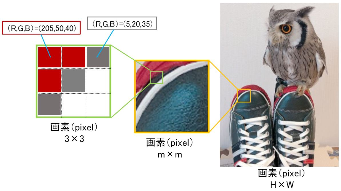 画像と画素の関係