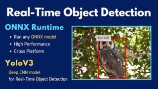 ONNX RuntimeとYoloV3でリアルタイム物体検出