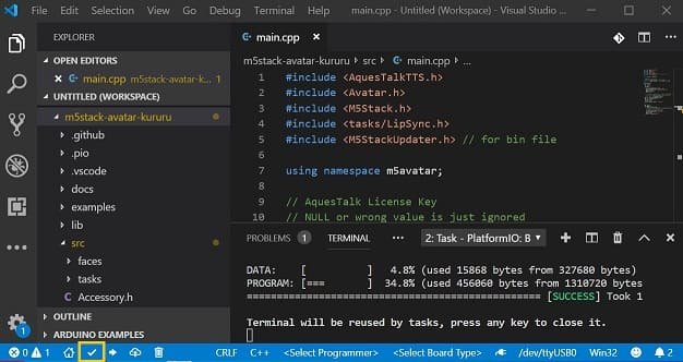 PlatformIO IDE for VSCode