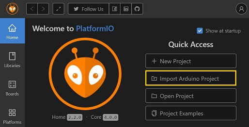 PlatformIO IDE for VSCode