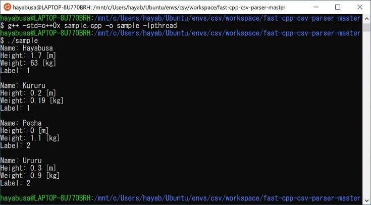 Fast C++ CSV Parser