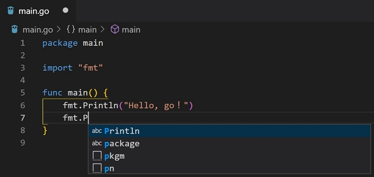 Go for Visual Studio Code