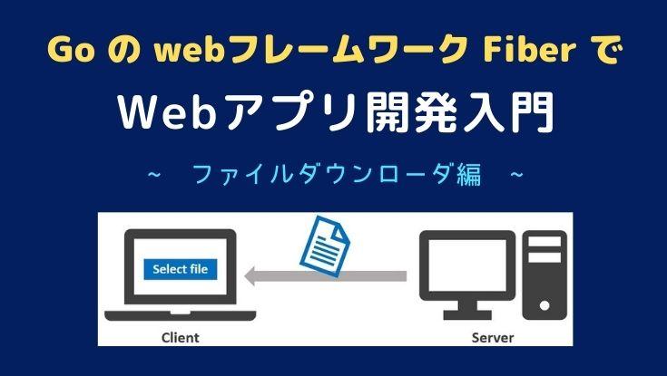 goのWebフレームワークfiberでWebアプリをつくる