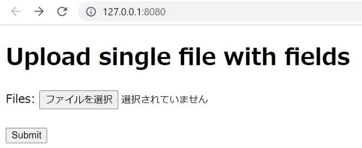 goのWebフレームワークfiberでファイルアップローダをつくる